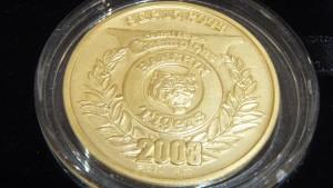 タイガース2003年優勝 記念純金メダル